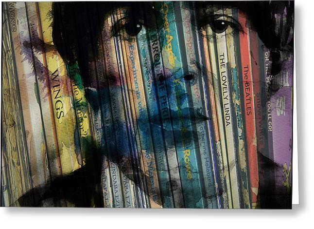 Paperback Writer Greeting Card by Paul Lovering