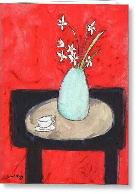 Paperwhites Still Life Greeting Card by Janel Bragg