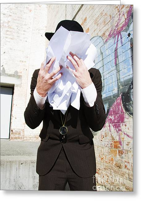 Paperwork Tears Greeting Card by Jorgo Photography - Wall Art Gallery