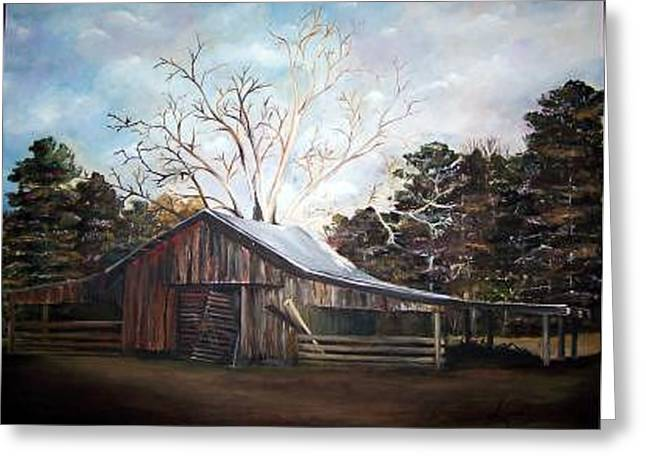 Pappas Barn Sold Greeting Card by Amanda  Sanford