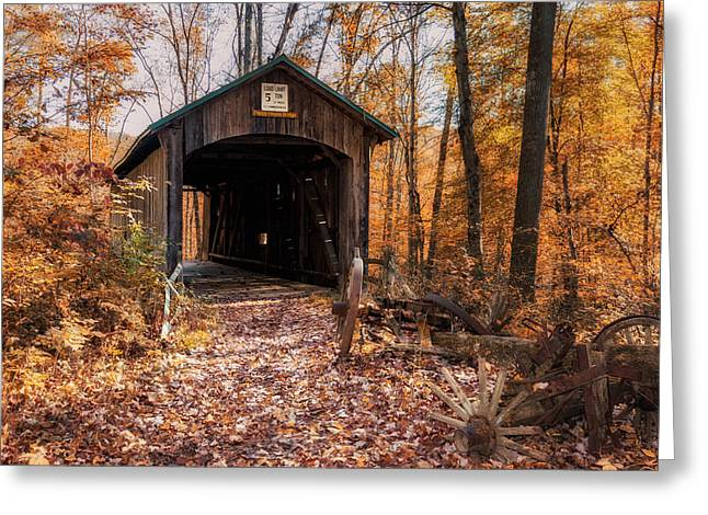 Pappy Hayes Covered Bridge Greeting Card by Tom Mc Nemar