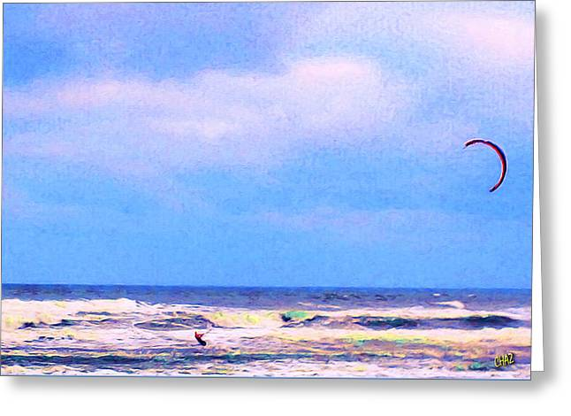 Para-surfer 3 Greeting Card by CHAZ Daugherty