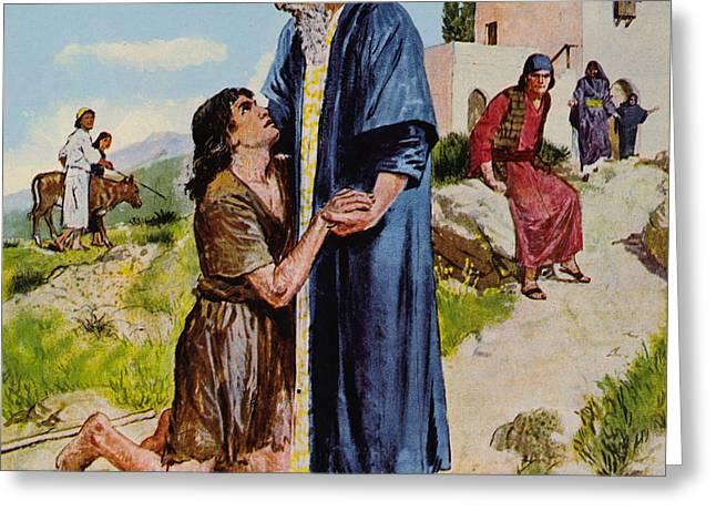 Parable Of The Prodigal Son Greeting Card by Clive Uptton