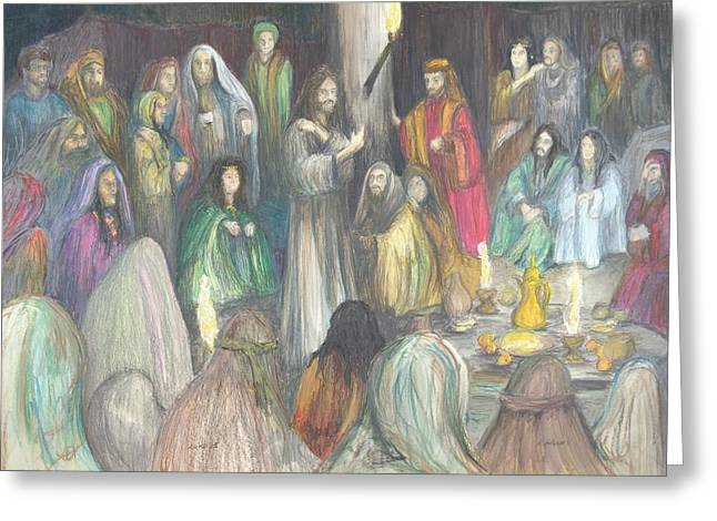 Parables Greeting Card by Rick Ahlvers