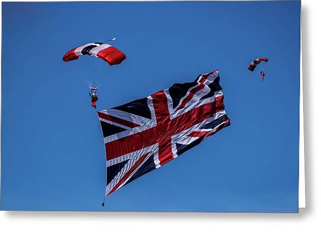 Parachutist Greeting Card by Martin Newman