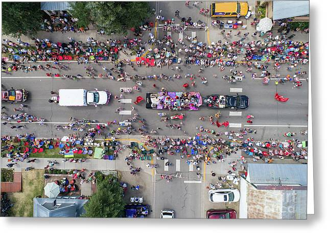 Parade From Above Greeting Card