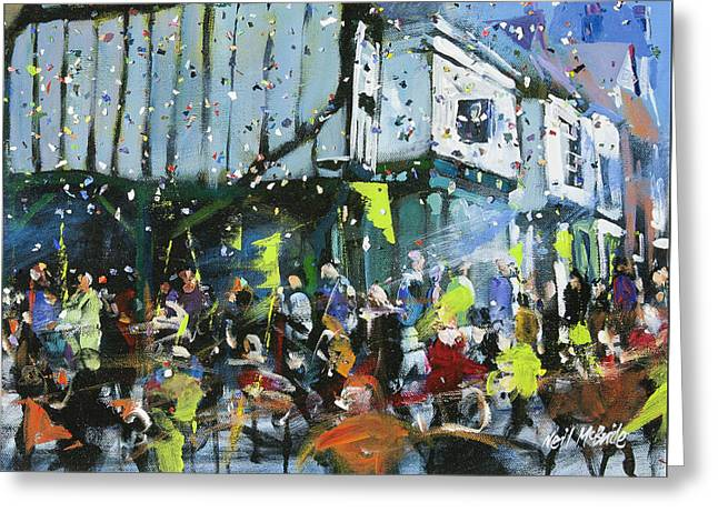 Parade In York Greeting Card by Neil McBride
