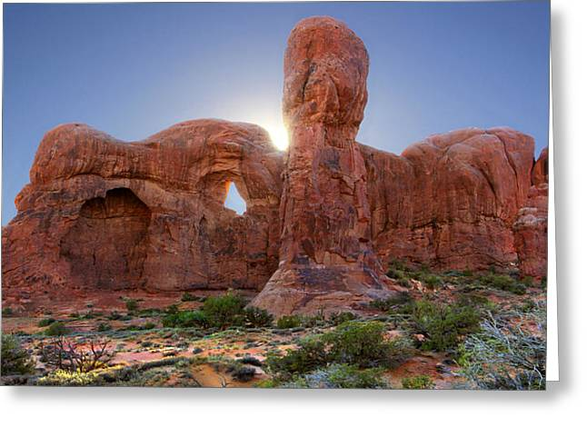 Parade Of Elephants In Arches National Park Greeting Card by Mike McGlothlen