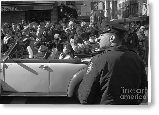 Parade Security Greeting Card by Clarence Holmes