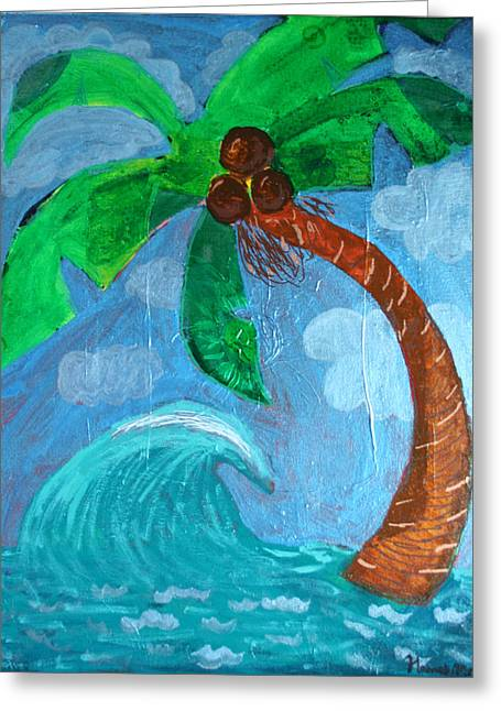 Paradise Greeting Card by Amy Parker