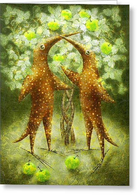 Paradise Apples Greeting Card by Lolita Bronzini