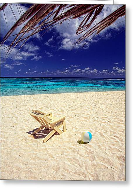 Paradise Beach Ball Greeting Card