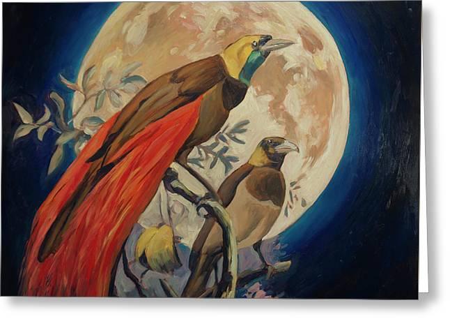 Paradise Birds Greeting Card by Nop Briex