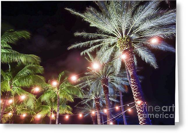 Greeting Card featuring the photograph Paradise By Night by Wilko Van de Kamp