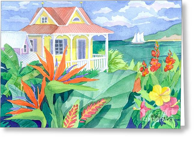 Paradise Cove Greeting Card by Paul Brent
