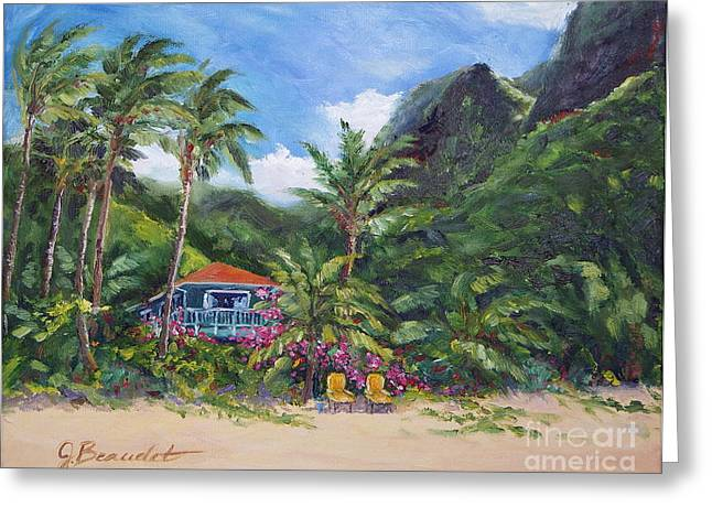 Paradise Found Greeting Card by Jennifer Beaudet