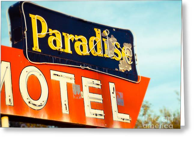 Paradise Found On Route 66 Greeting Card
