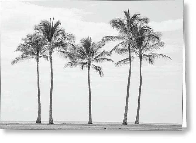 Paradise In Black And White II Greeting Card