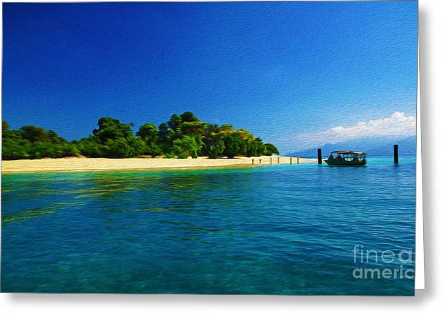 Paradise Island Haiti Greeting Card by Laura D Young