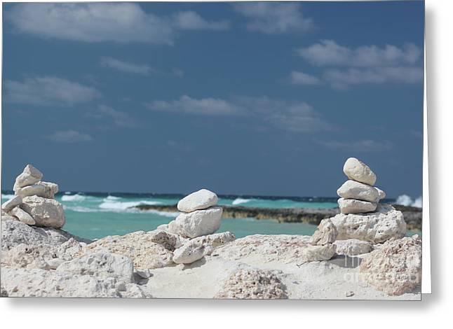 Paradise Island Greeting Card by Wilko Van de Kamp