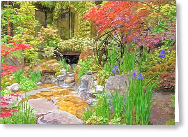 Paradise On Earth Impressions Greeting Card by Gill Billington