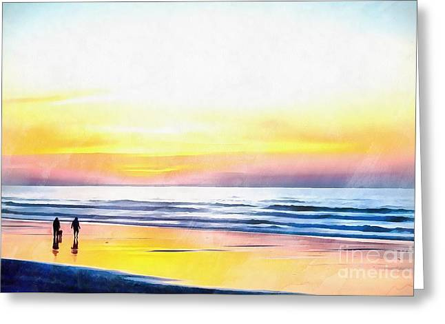 Paradise On The Beach Greeting Card by Edward Fielding