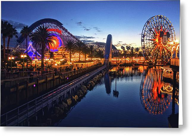 Paradise Pier Sunset Greeting Card