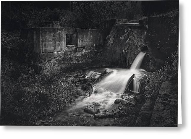 Paradise Springs Dam And Turbine House Ruins Greeting Card