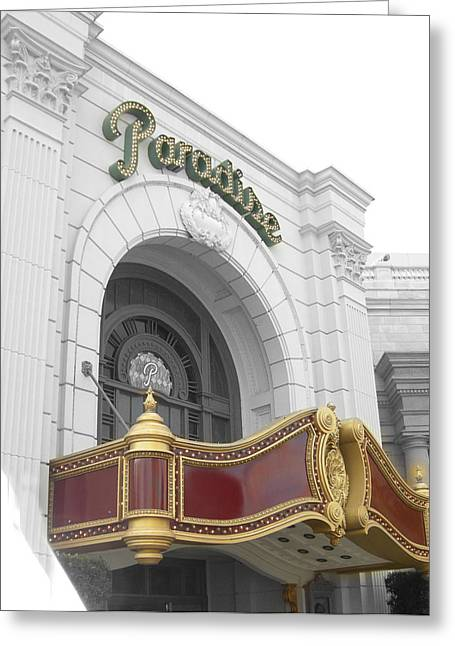 Paradisetheatre Greeting Card by Audrey Venute