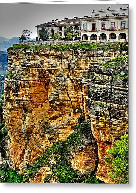 Parador Hotel Ronda - Andalusia Greeting Card by Juergen Weiss