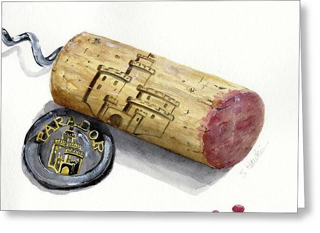 Parador Wine Cork Greeting Card