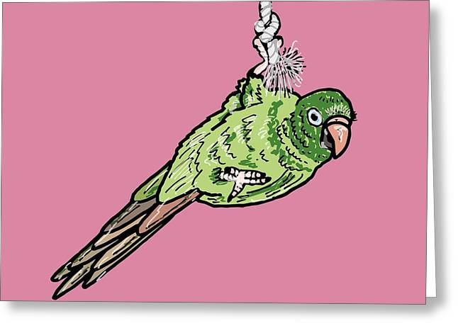 Parakeet Greeting Card by Pets Portraits