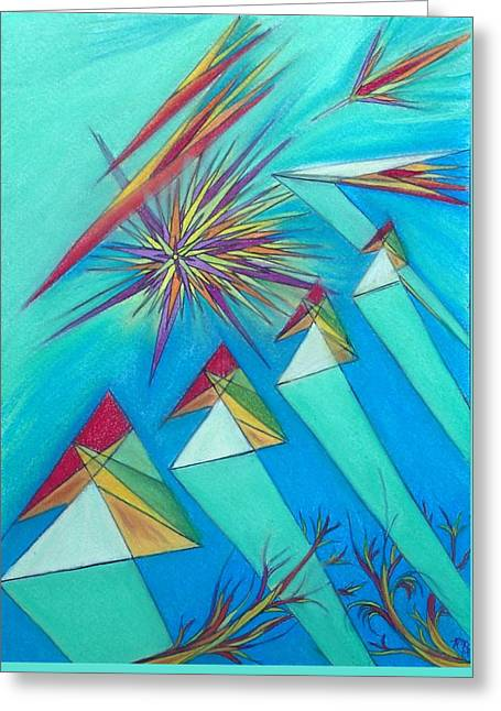 Paralex5 Greeting Card by Robert Nickologianis