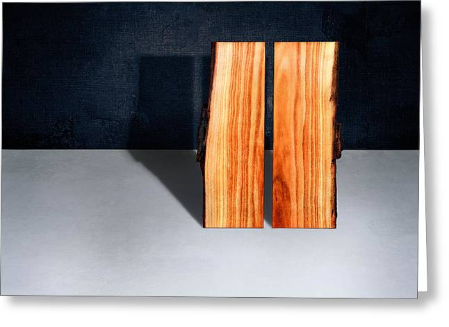 Parallel Wood Greeting Card