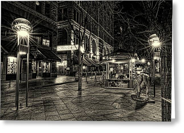 Paramount Cafe Bnw Greeting Card