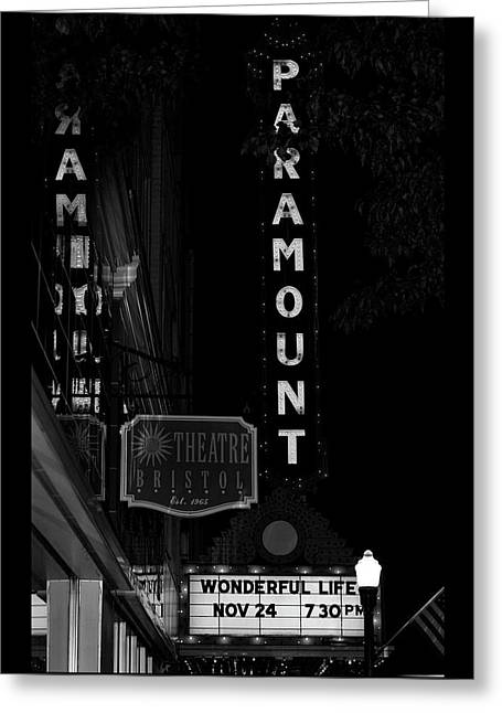 Paramount Marquee Bristol Tennessee Greeting Card by Denise Beverly
