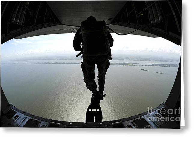 Pararescuemen Train On The Banana River Greeting Card by Stocktrek Images