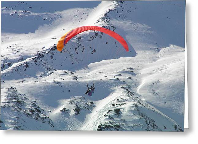 Parasailing In Davos Greeting Card