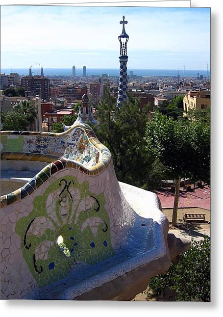 Parc Guell Greeting Card by Lindsey Orlando
