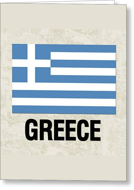 Parchment Flag Greece Greeting Card
