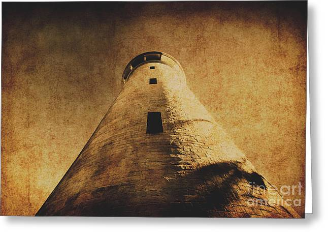 Parchment Paper Lighthouse Greeting Card