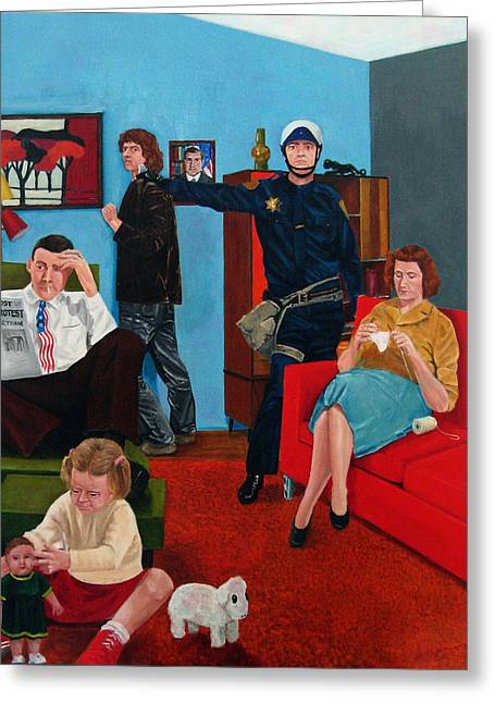 Parenting In The Sixties Greeting Card by Cecil Williams