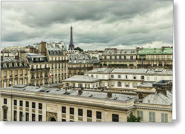 Paris 3 Greeting Card by Janet Fikar