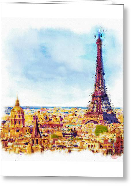 Paris Aerial View Greeting Card