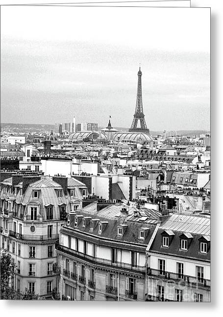 Paris And The Eiffel Tower From Printemps Rooftop  Greeting Card by D Renee Wilson
