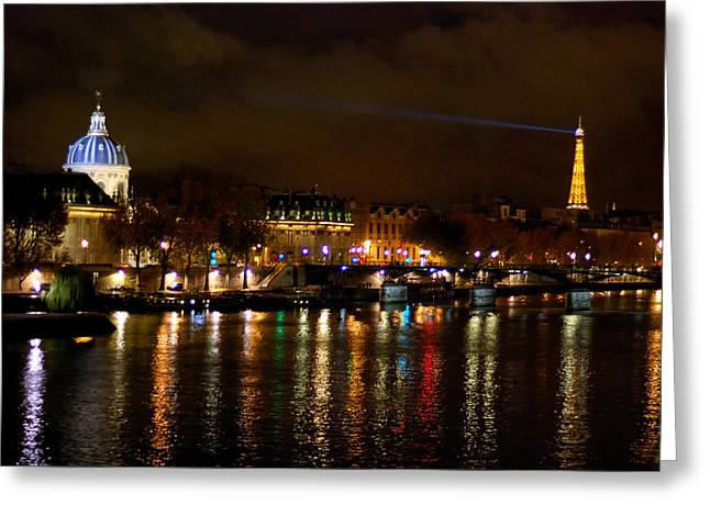 Greeting Card featuring the photograph Paris At Night by Steven Richman