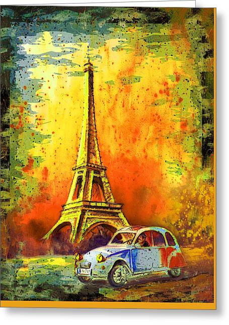 Paris Authentic Madness Greeting Card by Miki De Goodaboom