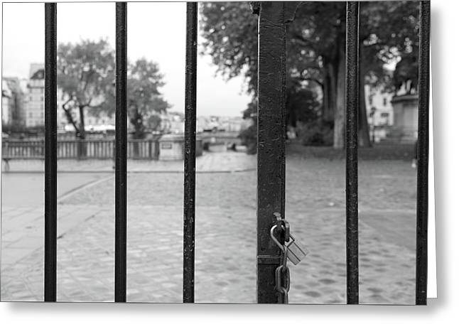 Paris Behind Bars Greeting Card