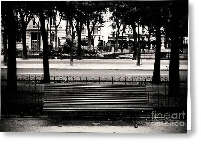 Paris Bench Greeting Card