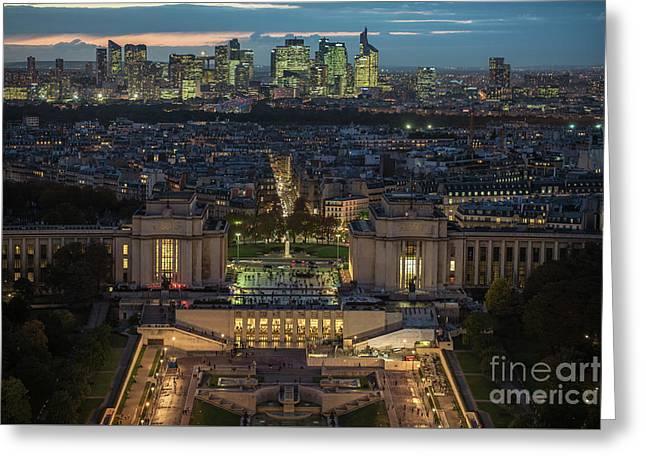 Paris Beyond The Trocadero Gardens Greeting Card by Mike Reid